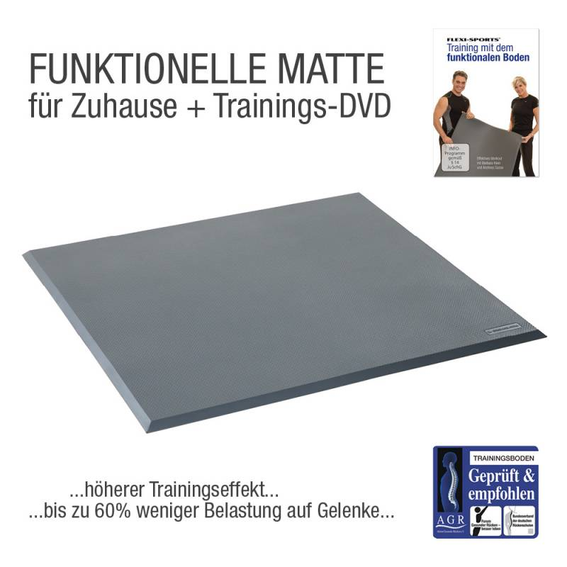 FLEXI-SPORTS® Funktionale Matte Einzelelement + DVD
