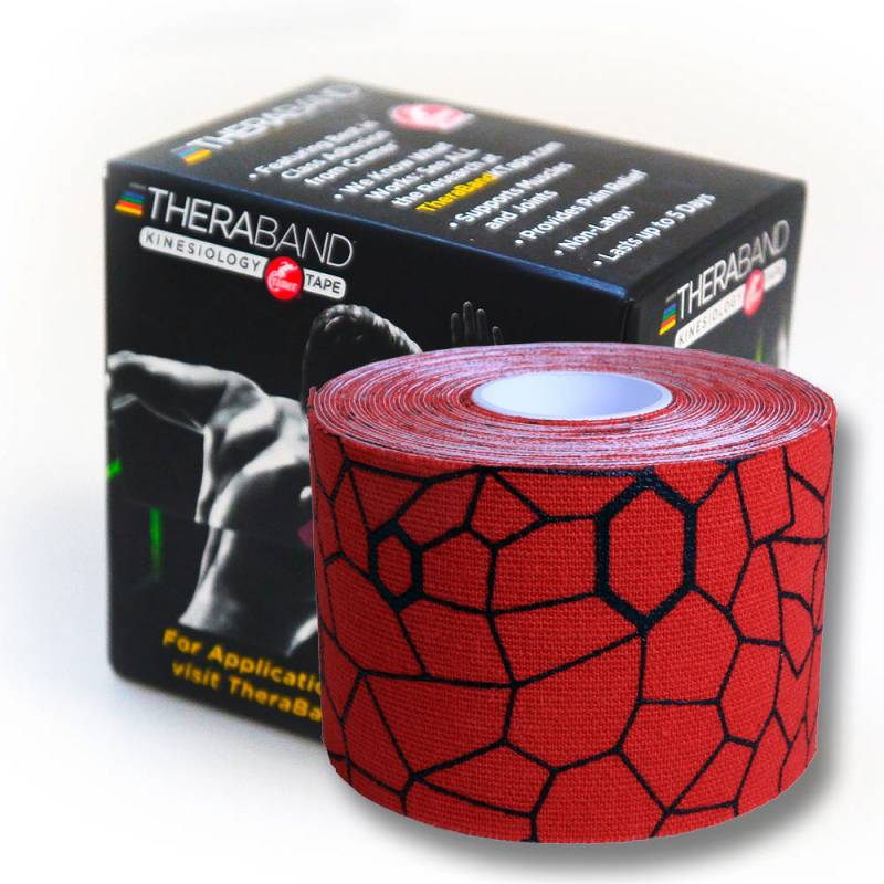 Thera-Band Kinesiology Tape 5 m Rot/Schwarz XactStretch
