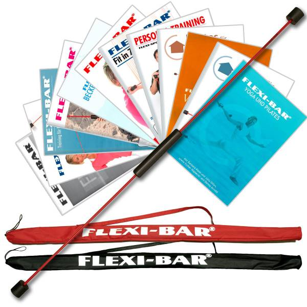 Original Flexi-Bar Starter Paket Standard Rot´´: Tasche Rot, DVD Wellness, DVD Fit in 7 Tagen